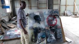 Francis Mampuya_Entretien_Galerie Angalia, juin 2015