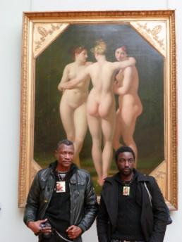 Chéri Benga et JP Mika _2010_Louvre_In Situ_Galerie Angalia