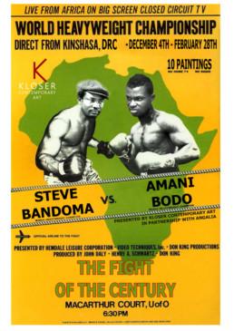 Exposition THE FIGHT OF THE CENTURY ! _ Steve Bandoma _ Galerie Angalia