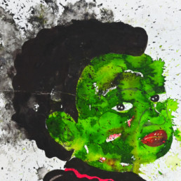 La petite communiante_2019_détail_Kura Shomali_Galerie Angalia