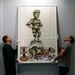 Sans titre_2015_encadrée_Steve Bandoma_Galerie Angalia