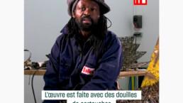 Freddy Tsimba : des douilles pour la vie_RFI_vidéo_ janvier 2019_galerie Angalia