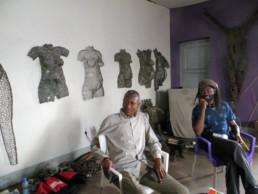 Freddy Tsimba et Chéri Benga_2016_In Situ_Galerie Angalia