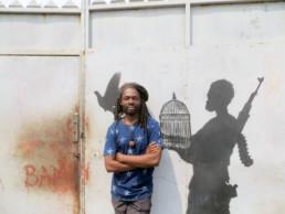 Freddy Tsimba_atelier_2016_In Situ_Galerie Angalia