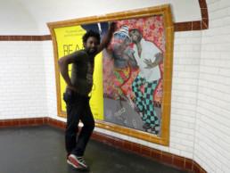 JP Mika_dans le métro, Affiche Beauté Congo_2015_In Situ_Galerie Angalia