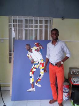 Amani Bodo_Mondrian_2017_In situ_Galerie Angalia