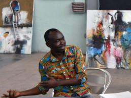 Francis Mampuya avec Chantal_2018_in situ_Galerie Angalia