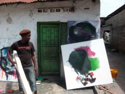 Francis Mampuya_2011_Kinshasa_In situ_Galerie Angalia