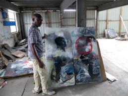 Francis Mampuya_diptyque_2016_In situ_Galerie Angalia