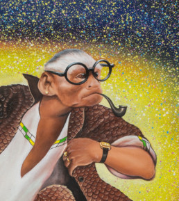 Benda bilili_détail_2014_Amani Bodo_Galerie Angalia