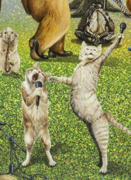 Le grand orchestre des animaux_détail 1_2017_Amani Bodo_Galerie Angalia