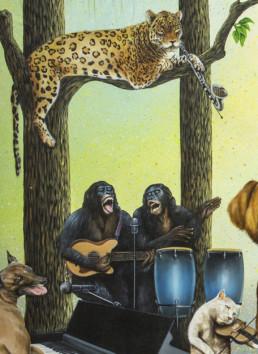 Le grand orchestre des animaux_détail 2_2017_Amani Bodo_Galerie Angalia