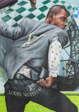 Sapeurs Louis Vuitton_détail 2_2017_Amani Bodo_Galerie Angalia