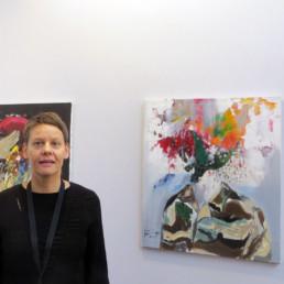 Un ange déchu_accrochage_2018_Francis Mampuya_Galerie Angalia