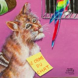 Le crime du chat_détail_2011_JP Mika_galerie Angalia
