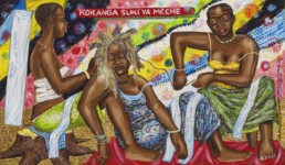 Kokanga suki ya meche, Série Kinshasa quotidien_2013_papa Mfumueto_galerie Angalia