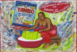 Yambo, Série Kinshasa quotidien_2014_Papa Mfumu'eto 1er_galerie Angalia