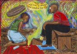 Kotia cirage_série Kinshasa quotidien_2013_Papa Mfumu'eto 1er_galerie Angalia