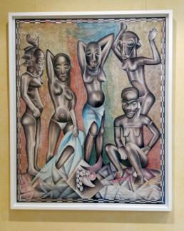 Les demoiselles du Congo_encadré_2015_Tsham_galerie Angalia