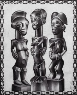 Trois femmes africaines_2011_Tsham_galerie Angalia