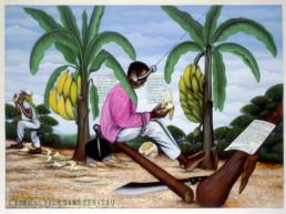 Pourquoi le Congo_Chéri Samba L'agriculteur sans cerveau_Galerie Angalia