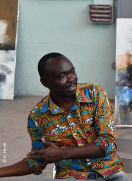 Francis Mampuya_portrait Alain Huart_Galerie Angalia